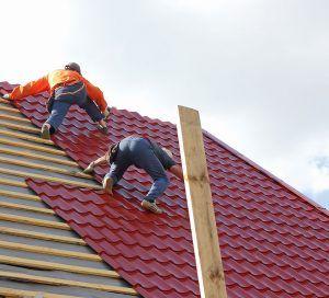 Men Adding Roof